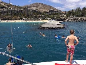 snorkel en el barco
