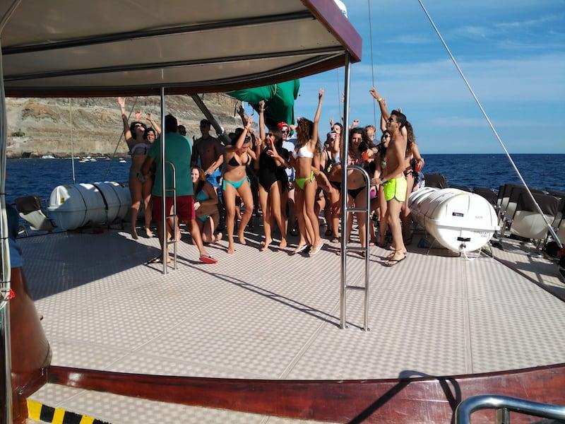 fiestas en barco en gran canaria