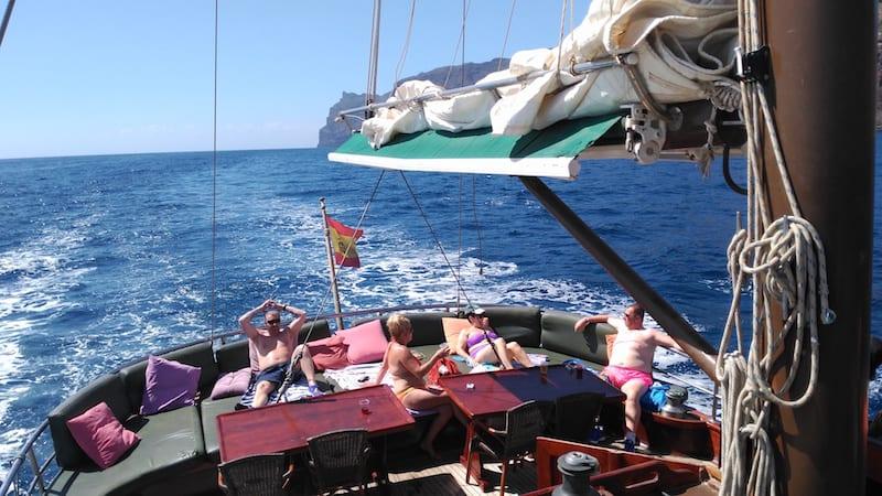 viaje en barco recogida barco playa del ingles - maspalomas - meloneras