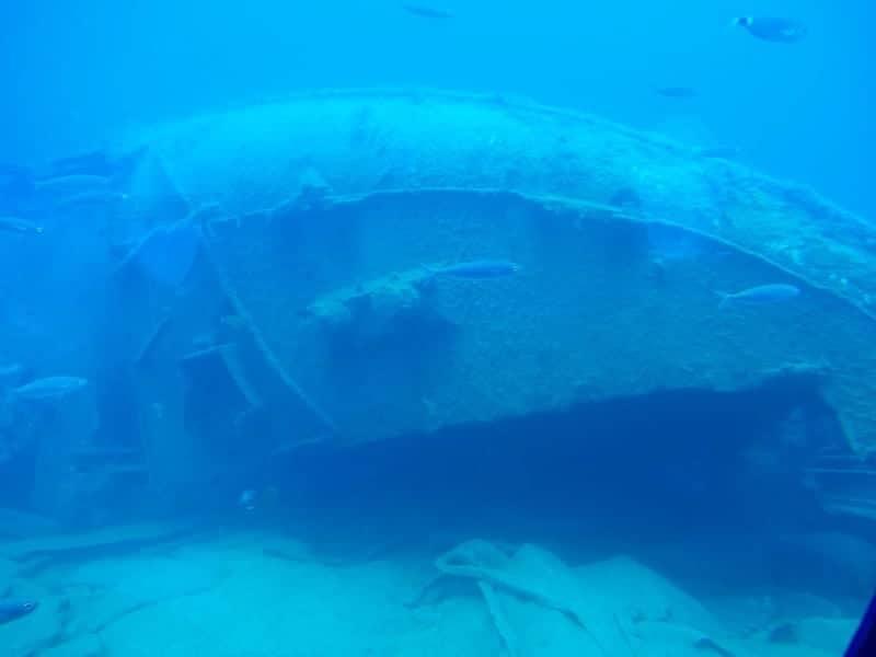 Treibgut auf gran canaria mit u-boot