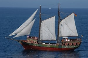 Piratenschiff chartern