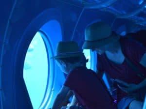 family in yellow submarine in gran canaria
