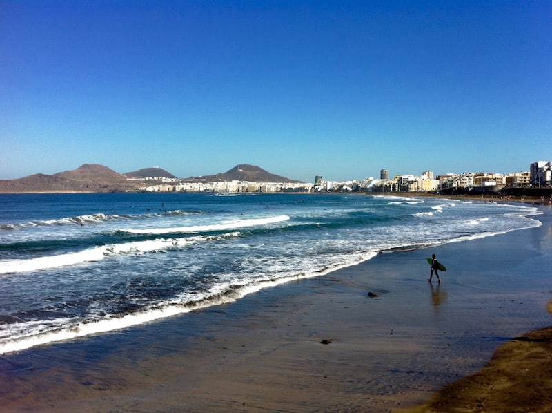 Urban beach of Las Canteras