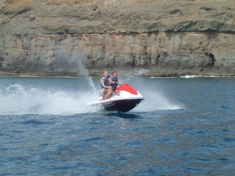 Enjoy riding a Jetski