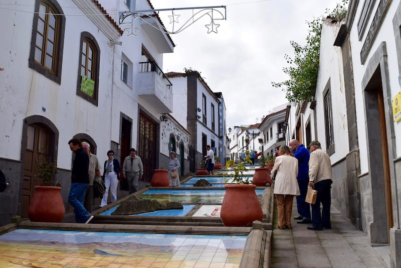 Calle de Firgas en Gran canaria