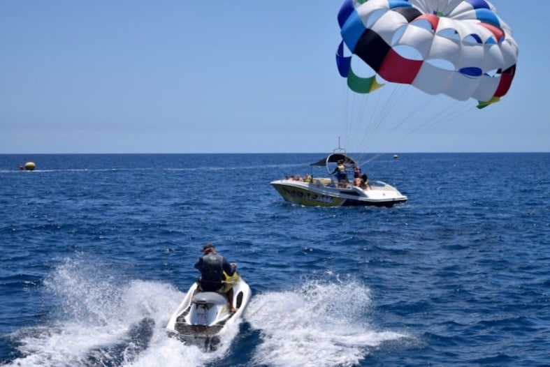 pasarailing and jet sky in gran canaria