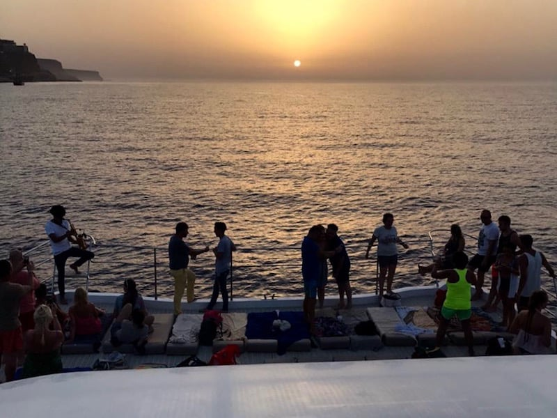 music sunset boat Gran Canaria