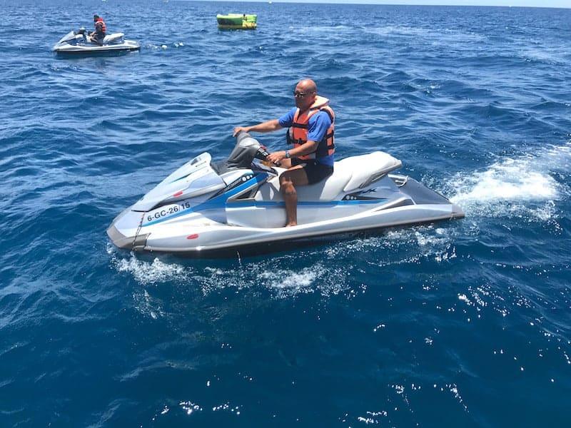 Montar en moto de agua en Puerto de Mogan