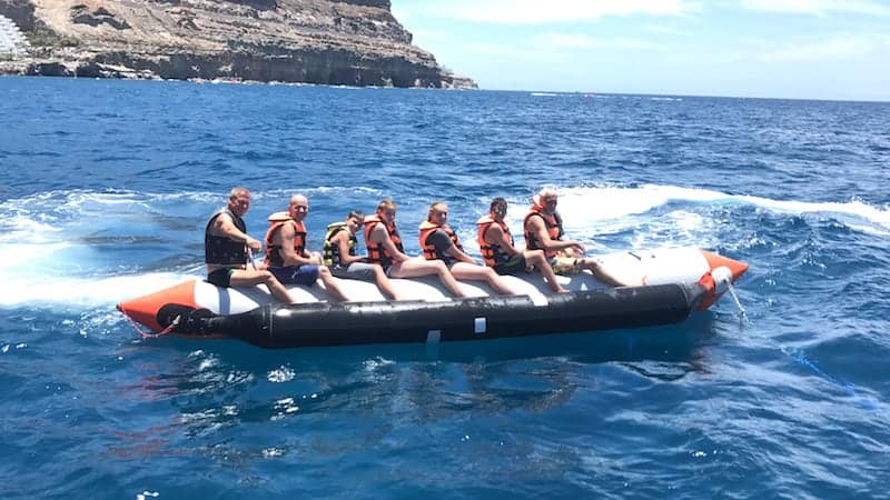 boat tour with water activities in Mogan